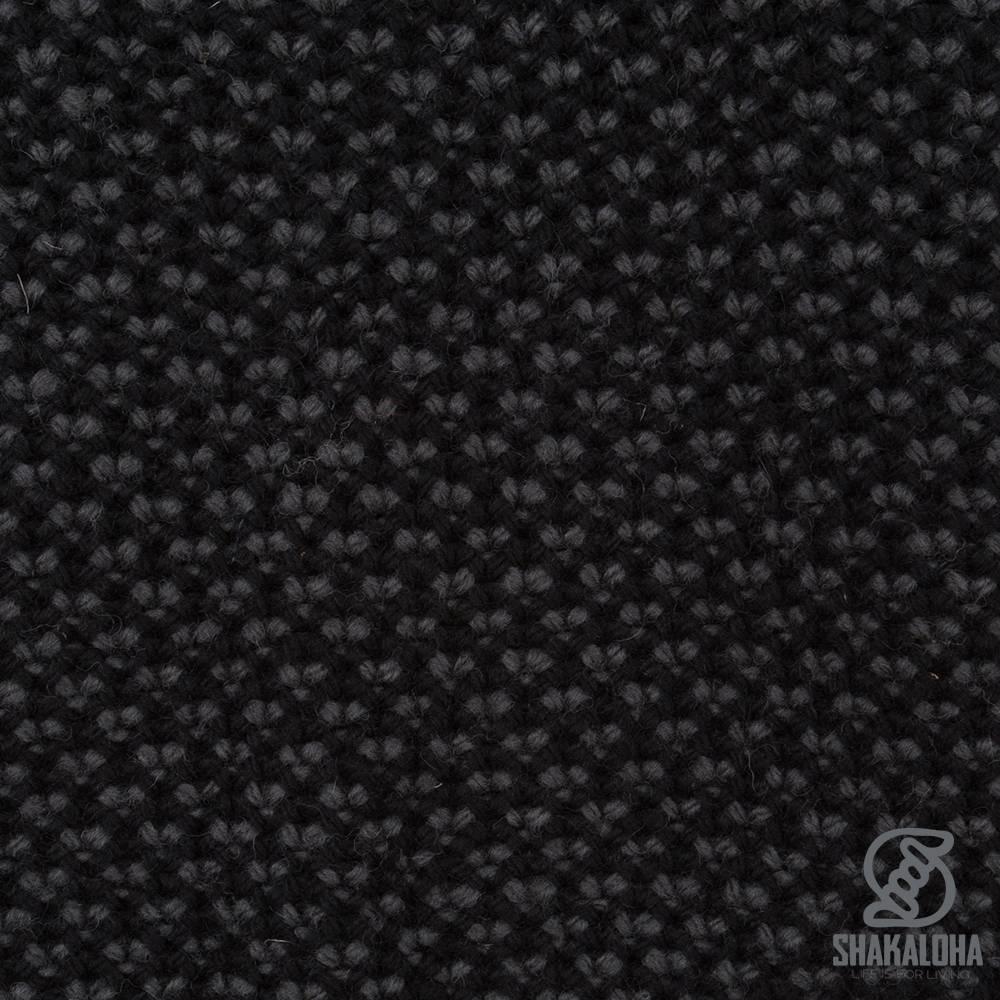 Shakaloha Cardigan en laine tricoté Shakaloha Marlin Black avec doublure en polaire et capuche amovible - Homme/Uni - Fabriqué à la main au Népal à partir de laine de mouton