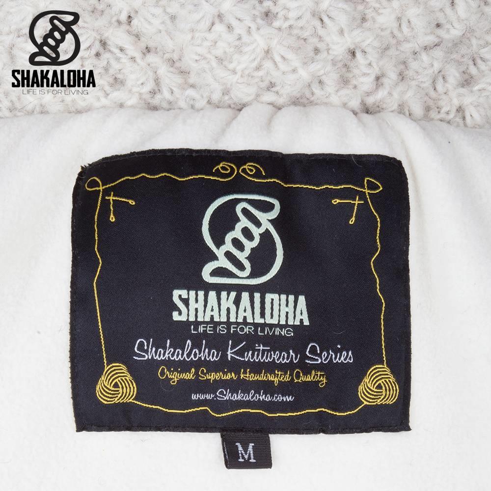 Shakaloha Shakaloha Knitted Wool Cardigan Idol Beige Cream with Fleece Lining and High Collar - Women - Handmade in Nepal from Sheep Wool