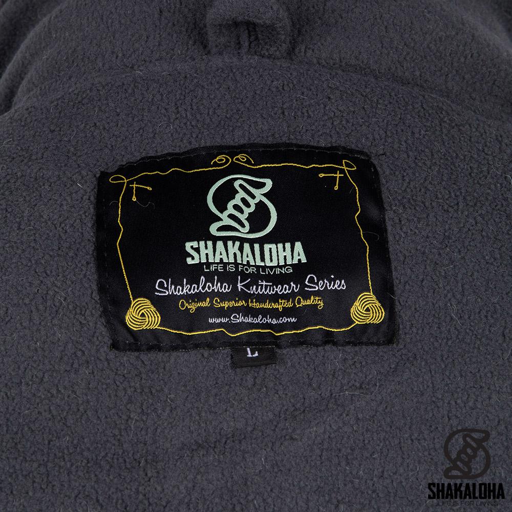Shakaloha Lang wollen heren vest grijs M Colombo Ziphood