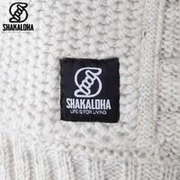 Shakaloha Shakaloha Knitted Woolen Jacket Chuck Ziphood Beige Cream with Fleece Lining and Detachable Hood - Men - Unisex - Handmade in Nepal from sheep's wool