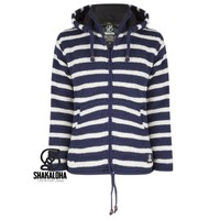 Shakaloha Split Ziphood Navy White