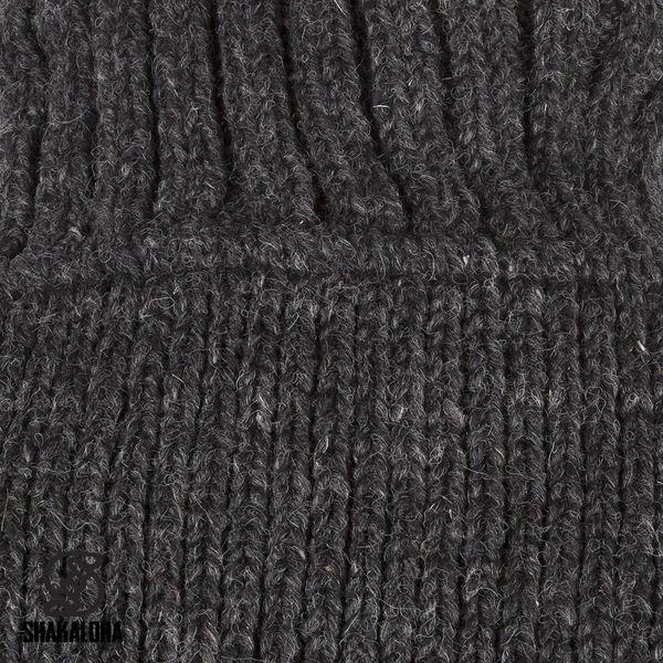 Shakaloha Crush Collar Anthrazitfarbene Wolljacke mit Stehkragen