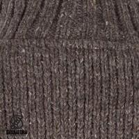 Shakaloha Shakaloha Wolljacke - Strickjacke Flash Collar Dunkelbraun mit Fleece-Futter und hohem Kragen - Herren - Uni - Handgemacht in Nepal aus Schafwolle