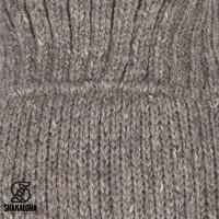 Shakaloha Shakaloha Veste en Laine Tricoté Flash Collar Taupe marron clair avec Doublure en polaire et Col haut - Hommes - Uni - Fabriqué à la main au Népal en laine de mouton