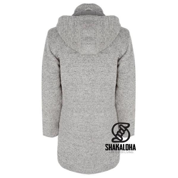 Shakaloha Cody light grey women long lined cardigan