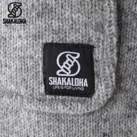 Shakaloha Shakaloha Gebreid Wollen Vest Cody Grijs met Fleece Voering en Afneembare Capuchon - Dames - Handgemaakt in Nepal van Schapenwol
