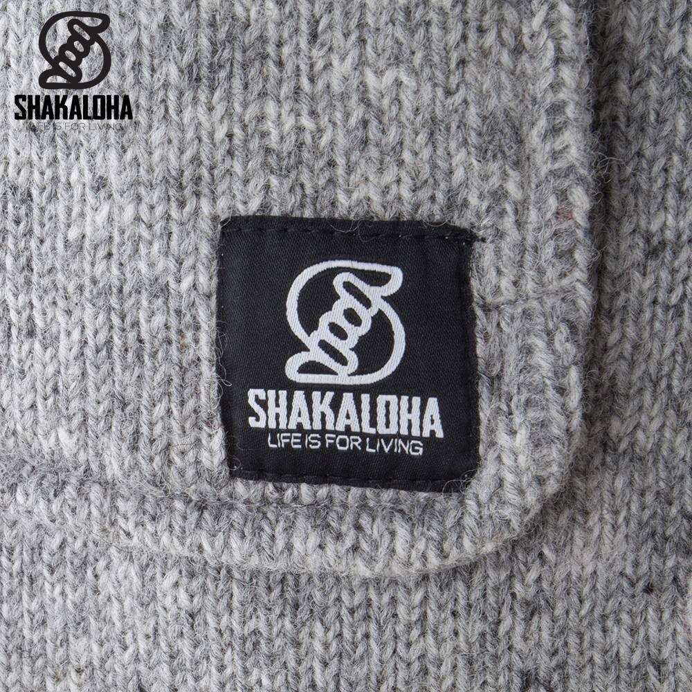 Shakaloha Shakaloha Knitted Woolen Jacket Cody Gray with Fleece Lining and Detachable Hood - Woman - Handmade in Nepal from sheep's wool