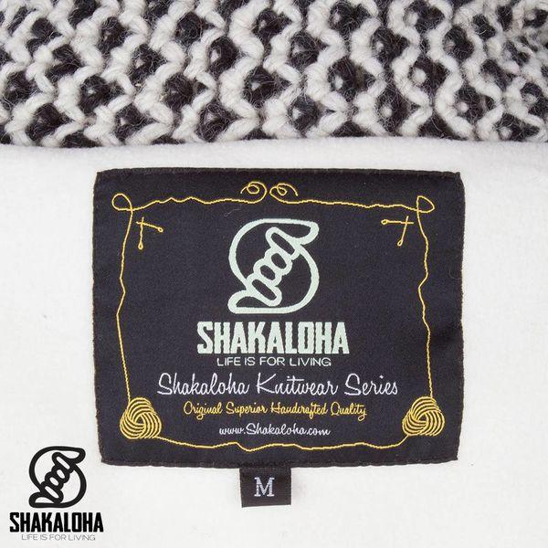 Shakaloha Shakaloha Veste en Laine Tricoté Cooger Crème noire avec Doublure en polaire et Col haut - Femmes - Fabriqué à la main au Népal en laine de mouton