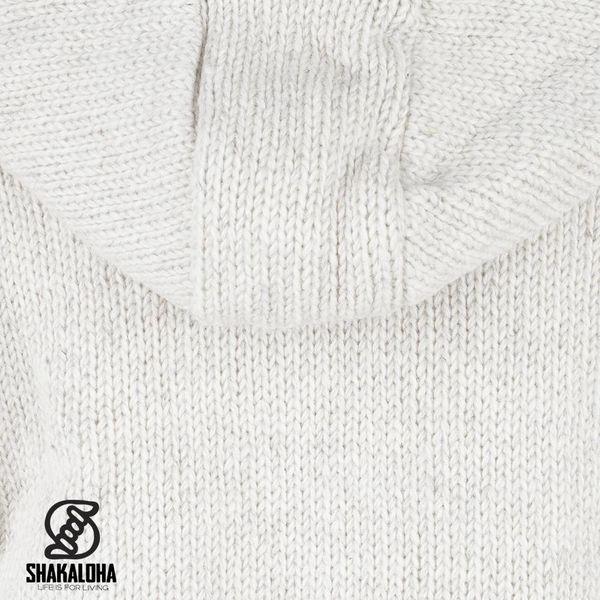 Shakaloha Flash Ziphood Beige Wolljacke mit abnehmbarer Kapuze