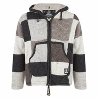 Shakaloha Mannen Patchwork NH Natural Brown Wollen Vest