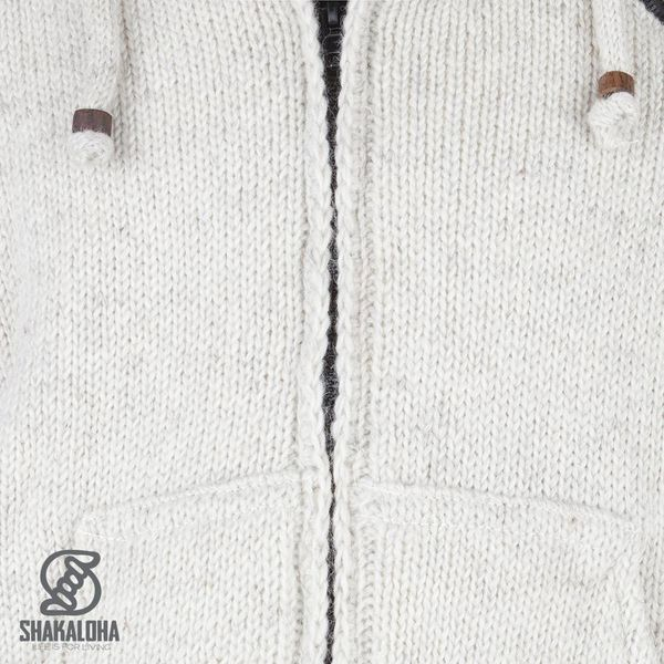 Shakaloha Crush Ziphood Jacket Beige met afneembare capuchon
