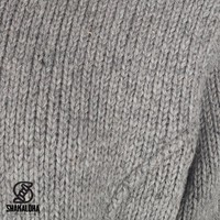 Shakaloha Shakaloha Wolljacke - Strickjacke Tyler Grau mit Teddy Futter und Abnehmbarer Kapuze - Damen - Handgemacht in Nepal aus Schafwolle
