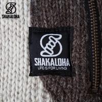 Shakaloha Shakaloha Gebreid Wollen Vest Tyler Beige Crème met Teddy Fleece Voering en Afneembare Capuchon - Dames - Handgemaakt in Nepal van Schapenwol