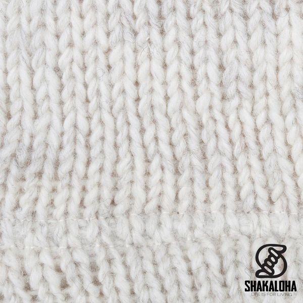 Shakaloha Shakaloha Veste en Laine Tricoté Ballistic Crème beige avec Doublure en polaire et Capuche détachable - Femmes - Fabriqué à la main au Népal en laine de mouton