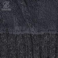 Shakaloha Shakaloha Knitted Woolen Jacket Bodhi Anthracite with Teddy Lining and Detachable Hood - Men - Unisex - Handmade in Nepal from sheep's wool