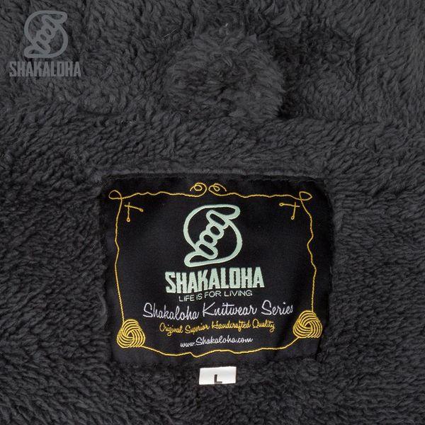 Shakaloha Shakaloha Strickwolle Cardigan Bodhi Anthrazit mit Teddy Fleece Futter und abnehmbarer Kapuze - Man / Uni - Handgefertigt in Nepal aus Schafwolle