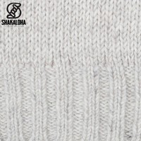 Shakaloha Shakaloha Knitted Wool Cardigan Bodhi Beige Cream with Teddy Fleece Lining and Detachable Hood - Man / Uni - Handmade in Nepal from Sheep Wool