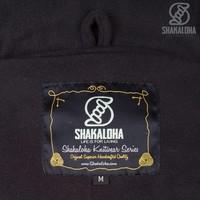Shakaloha Shakaloha Gebreid Wollen Vest Baltonic Antraciet met Fleece Voering en Afneembare Capuchon - Dames - Handgemaakt in Nepal van Schapenwol