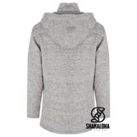 Shakaloha Shakaloha Wolljacke - Strickjacke Baltonic Grau mit Fleece-Futter und Abnehmbarer Kapuze - Damen - Handgemacht in Nepal aus Schafwolle