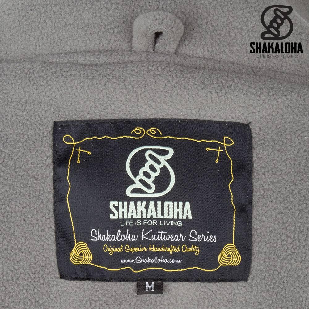 Shakaloha Shakaloha Gebreid Wollen Vest Baltonic Grijs met Fleece Voering en Afneembare Capuchon - Dames - Handgemaakt in Nepal van Schapenwol