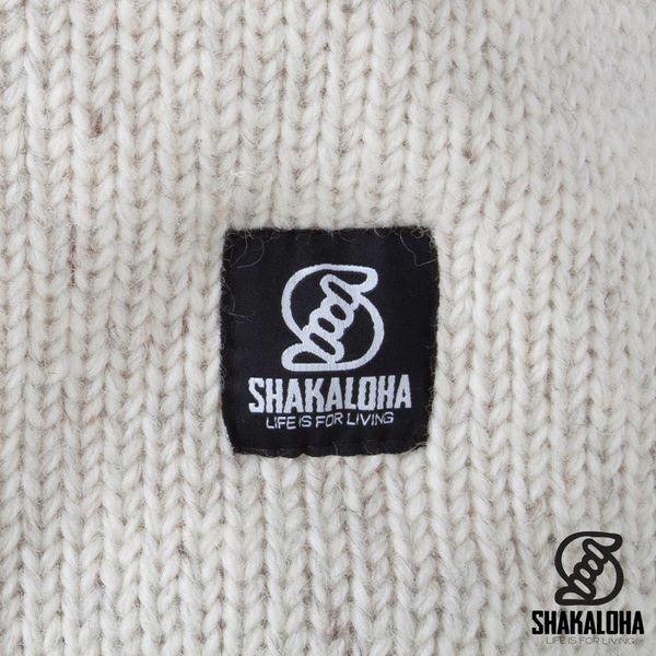 Shakaloha Shakaloha Gebreid Wollen Vest Whistler Beige Crème met Fleece Voering en Afneembare Capuchon - Dames - Handgemaakt in Nepal van Schapenwol