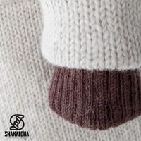 Shakaloha Shakaloha Knitted Woolen Jacket Whistler Beige Cream with Fleece Lining and Detachable Hood - Woman - Handmade in Nepal from sheep's wool