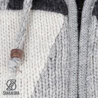 Shakaloha Shakaloha Gebreid Wollen Vest Riser Natuurkleuren met Fleece Voering en Afneembare Capuchon - Man/Uni - Handgemaakt in Nepal van Schapenwol
