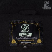Shakaloha Shakaloha Wolljacke - Strickjacke Riser Natürliche Farben mit Fleece-Futter und Abnehmbarer Kapuze - Herren - Uni - Handgemacht in Nepal aus Schafwolle