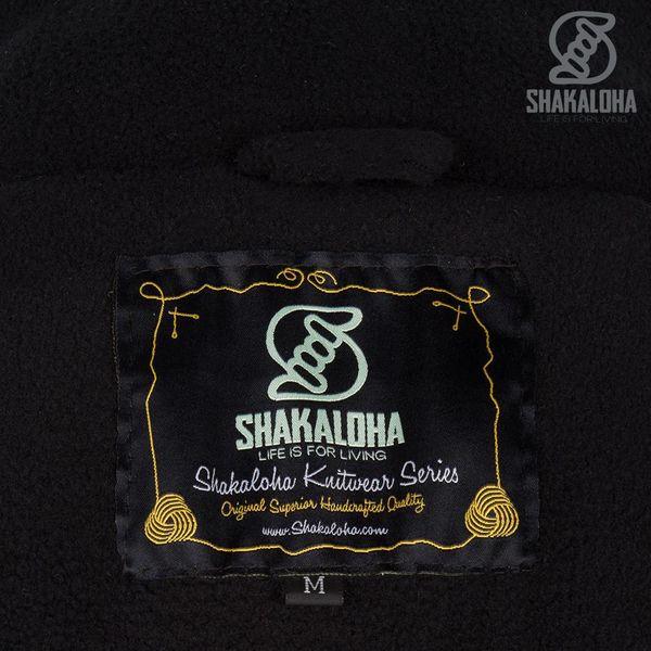 Shakaloha Shakaloha Veste en Laine Tricoté Riser Couleurs naturelles avec Doublure en polaire et Capuche détachable - Hommes - Uni - Fabriqué à la main au Népal en laine de mouton