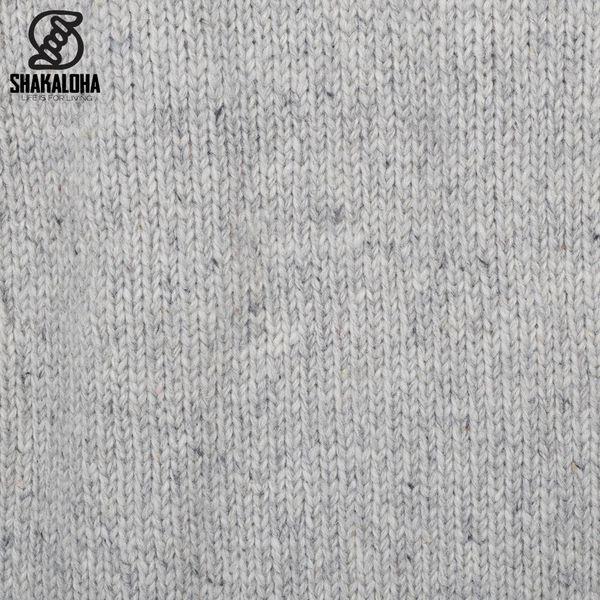 Shakaloha Shakaloha Wolljacke - Strickjacke Radical Ziphood Grau mit Fleece-Futter und Abnehmbarer Kapuze - Herren - Uni - Handgemacht in Nepal aus Schafwolle