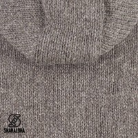 Shakaloha Shakaloha Knitted Woolen Jacket Gadi Classic Light Brown Taupe with Fleece Lining and Hood - Men - Unisex - Handmade in Nepal from sheep's wool