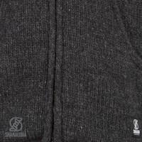 Shakaloha Shakaloha Knitted Woolen Jacket Parsa Classic Anthracite with Fleece Lining and High Collar - Men - Unisex - Handmade in Nepal from sheep's wool