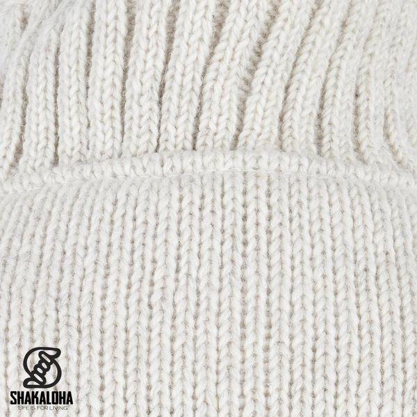 Shakaloha Shakaloha Veste en Laine Tricoté Parsa Classic Crème beige avec Doublure en polaire et Col haut - Hommes - Uni - Fabriqué à la main au Népal en laine de mouton