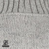 Shakaloha Shakaloha Wolljacke - Strickjacke Harta Classic Grau mit Fleece-Futter und hohem Kragen - Herren - Uni - Handgemacht in Nepal aus Schafwolle