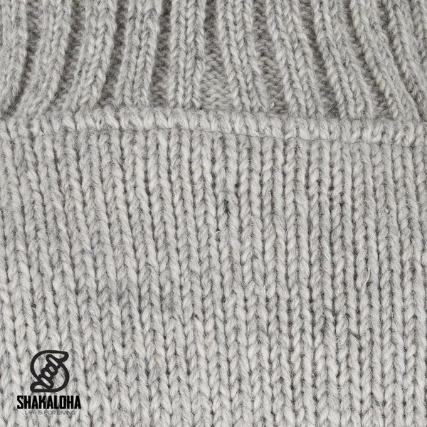 Shakaloha Shakaloha Gebreid Wollen Vest Harta Classic Grijs met Fleece Voering en Hoge Kraag - Man/Uni - Handgemaakt in Nepal van Schapenwol