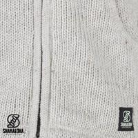 Shakaloha Shakaloha Knitted Woolen Jacket New Chitwan Beige Cream with Fleece Lining and Hood - Men - Unisex - Handmade in Nepal from sheep's wool