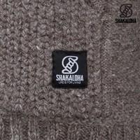 Shakaloha Shakaloha Wolljacke - Strickjacke Chuck Ziphood Hellbraune Taupe mit Fleece-Futter und Abnehmbarer Kapuze - Herren - Uni - Handgemacht in Nepal aus Schafwolle