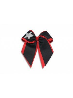 Pizzazz Cheerleader haarstrik zwart/rood