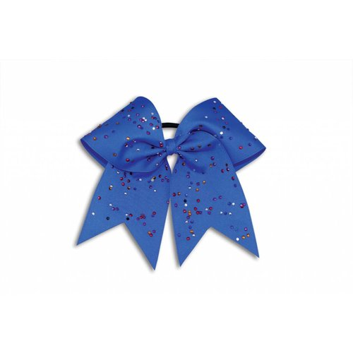 Pizzazz Cheerleader Hairbow blauw met strass steentjes