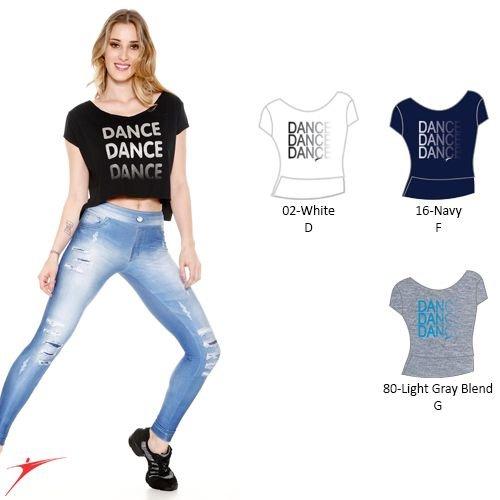 So Danca Dance crop top donker blauw met zilver 110/116