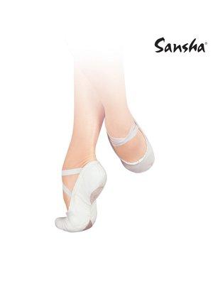 Sansha Balletschoenen Pro 1C N wit splitzool