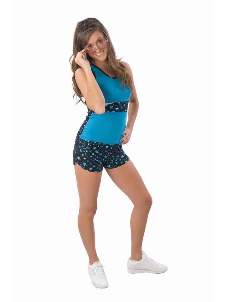 Pizzazz Superstar cheer top turquoise