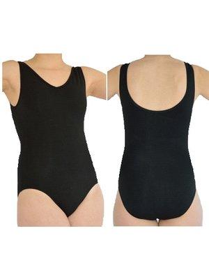 Dansgirl Balletpakje hemd model dames zwart