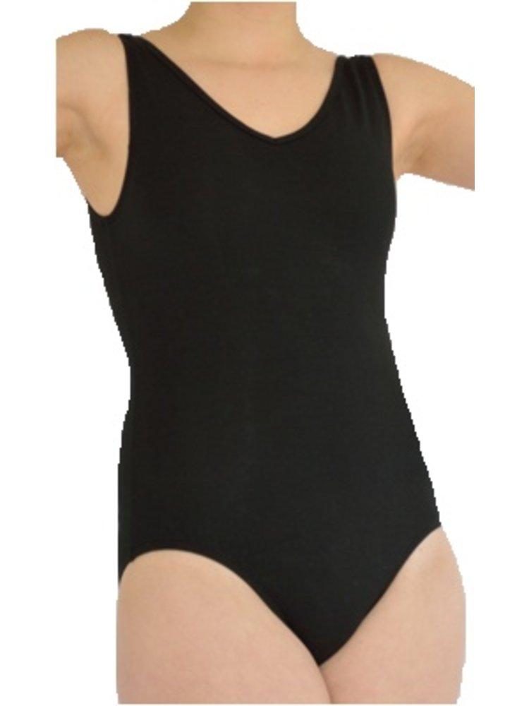 Dansgirl Balletpakje hemd model dames zwart maat L