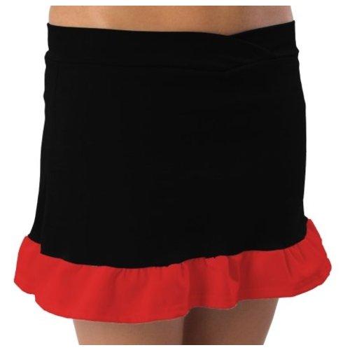 Pizzazz Kinder Cheerleader rokje zwart/rood