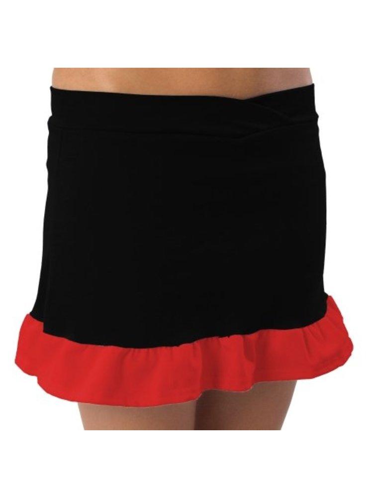 Pizzazz Cheerleader rokje zwart/rood maat S
