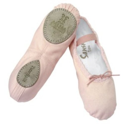 Sansha Balletschoen kinder Tutu-split 5C splitzool wit