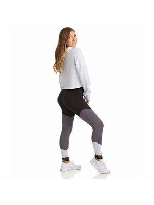 Soffe Dames dans legging zwart/grijs