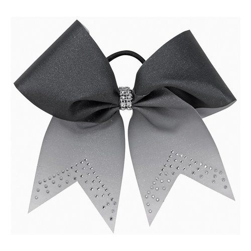 Pizzazz Cheerleader Hairbow zwart met strass steentjes