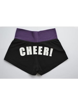 Dansgirl CHEER! short zwart/paars